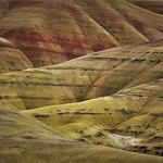 The Painted Hills of Oregon, on a cloudy day. thumbnail
