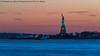 Liberty Sunset (20180126-DSC08156-Edit) (Michael.Lee.Pics.NYC) Tags: newyork statueofliberty hudsonriver newyorkharbor bayonne newjersey sunset twilight night longexposure sony a7rm2 fe70300mmg