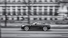 Fast Cars (sdupimages) Tags: fuji rue street paris sport automobile voiture car vitesse motion speed filé z4 bmw bw nb noirblanc blackwhite