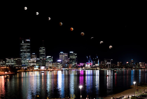 2018 Super Blue Blood Moon Lunar Eclipse Composite Progression - Perth, Western Australia