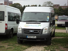 Althams Travel Services of Burnley YE07WTL (yorkcoach2) Tags: york burnley althamstravelservices fordtransit ford ye07wtl races racecourse raceday