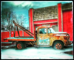 Waiting for a call... (Sherrianne100) Tags: htt oldtruck towtruck springfieldmissouri missouri