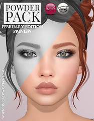 Powder Pack Catwa February Edition Preview (Izzie Button (Izzie's)) Tags: powderpack catwa izzies sl