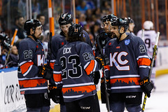 "Kansas City Mavericks vs. Indy Fuel, February 17, 2018, Silverstein Eye Centers Arena, Independence, Missouri.  Photo: © John Howe / Howe Creative Photography, all rights reserved 2018 • <a style=""font-size:0.8em;"" href=""http://www.flickr.com/photos/134016632@N02/38577199270/"" target=""_blank"">View on Flickr</a>"