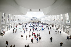 Inside the Oculus (Jake Rogers Photo) Tags: subway mall architecture people manhattan urban city trainstation oculus newyork nyc