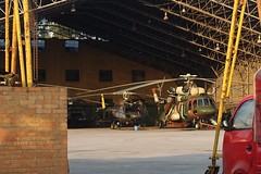 Mt. Everest Helicopter Expedition (posterboy2007) Tags: kathmandu nepal airport helicopters hanger maintenance sony
