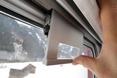Rhaetian Railway - B 2310 Windows (Kecko) Tags: 2018 kecko switzerland swiss schweiz graubünden graubuenden gr surselva rhätischebahn rhaetian railway railroad viafierretica rhb eisenbahn bahnwagen fenster window railcar carriage b2310 ffa ew1 train zug swissphoto geotagged geo:lat=46773640 geo:lon=9188580