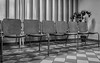 Room for Waiting (Rupert Brun) Tags: 2017 budapest hungary july hu waiting room medical centre center hospital chair chairs blackandwhite monochrome tiles floor blinds plant