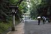 Meiji Shrine park in Harajuku, Tokyo - Japan (Marconerix) Tags: tokyo meijishrine shrine santuario tempio shintoista tempioshintoista temple shinto japan giappone harajuku bagnato pioggia ombrelli persone giapponesi spiritualità spirituality religion religione