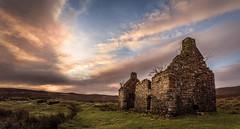 I'm a Wreck in the Morning (SkyeWeasel) Tags: scotland skye landscape ruin sunrise dawn kilchrist panorama
