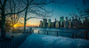 Calm after the storm, Manhattan NYC (ADFitz) Tags: newyork manhattan sunset graynor cityscape brooklynbridgepark esatriver sunflare cold blizzard brooklyn