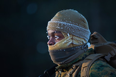 Frozen Fighter (United States Marine Corps Official Page) Tags: 2ndmarineaircraftwing coldweathertraining ullrshield exercise hike macg28 fortmccoy wisconsin unitedstates us