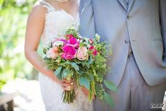 Chris & Amy's Wedding (FestivitiesMN) Tags: arboretum minneapolisweddingphotographer oakridgehotelconferencecenter fun ericvestphotography outsidephotographer bouquet floral greenery pinkfloral whitefloral fuchsia