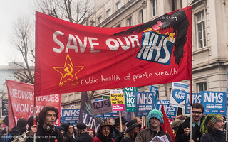 NHS Demonstration in central London, 3rd February 2018
