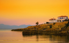 A beautiful sunset in Aegina (Argiriou Vassiliki) Tags: sunrise sunset dusk pier dawn townscape twilight standing water sunshine greece aegina island argosaronic saronic golf nikon d5300 outdoor outside golden hour greek islands sea seascape seaside landscape nature