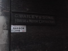 5th February 2018 (themostinept) Tags: cbaileyandsons barbonclose london bloomsbury camden wc1 horseandmotorcontractors sign ghostsign alley alleyway brickwall signs