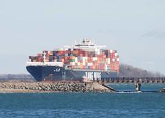 YM Unicorn (jelpics) Tags: yangming ymunicorn commercialship containership cargoship merchantship boat boston bostonharbor bostonma harbor massachusetts ocean port sea ship vessel