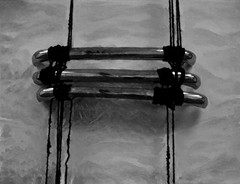 Pull Up To The Bumper (Steve Taylor (Photography)) Tags: gracejones pulluptothebumper sheelagowda behold2009 humanhair car bumpers art digital sculpture grey black monochrome blackandwhite monotone metal chrome uk gb england greatbritain unitedkingdom london texture shiny shadow hair locks dreadlocks tatemodern tate