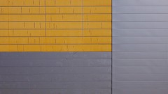 Minimal - Lines (Visual Stripes) Tags: minimal architecture lines yellow metal building wall epm1 olympus urban abstract geometry handheld kitlens texture city