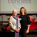 Gill Hayes with her mother at the TEDxExeter 2018 launch event at Royal Albert Memorial Museum