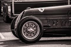 Detail--Vintage Alfa Romeo Racecar (PAJ880) Tags: vintage alfa romeo monoposto wire wheel bw mono lime rock park lakeville ct