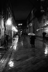 Stradun Composition (Koprek) Tags: leicam2summaron35mm2 kodaktrix film 1600 croatia dubrovnik wind cold rain december 2017