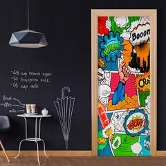 Papier-peint pour porte Comic World (emmanuel_delahaye) Tags: papier mobilier deco artgeist recollection decointerior interiordesign design home décoration papierspein