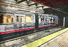 (sftrajan) Tags: churchstreetstation sanfrancisco camart cartoonized bredacar 2018 muni station estaçãodemetro metrostation estacióndelmetro stationdumétro edited