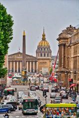 Rue Royale, Place de la Concorde, Luxor Obelisk, Borbon Palace and Les Invalides (woto) Tags: plazadeluisxv plazadelarevolución paris hdr plazadelaconcordia france francia luxorobelisk obelisco luxor palacioborbón borbón lesinvalides