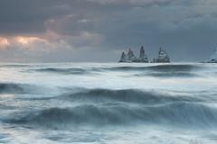 Vik Waves (Sophie Carr Photography) Tags: vik iceland waves longexposure vikbeach beach stacks geology sea dusk
