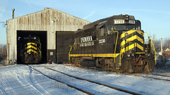 IN GP30s at Montpelier, Ohio (Troy Strane) Tags: indiana northeastern montpelier ohio railroad norfolksouthern ns gp30 yard train locomotive