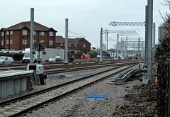 20180219 Blackpool electrification masts2 (blackpoolbeach) Tags: blackpool north railway station railroad platform electrification masts gantry
