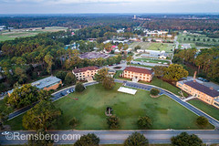 Aerial view overlooking the front of University of Georgia Tifton, Coastal Plain, campus and beyond (Remsberg Photos) Tags: farm georgia peanuts research tifton uga outdoors agriculture aerial drone universityofgeorgiatifton universityofgeorgia campus education building builtstructure college learning school architecture vast academia usa