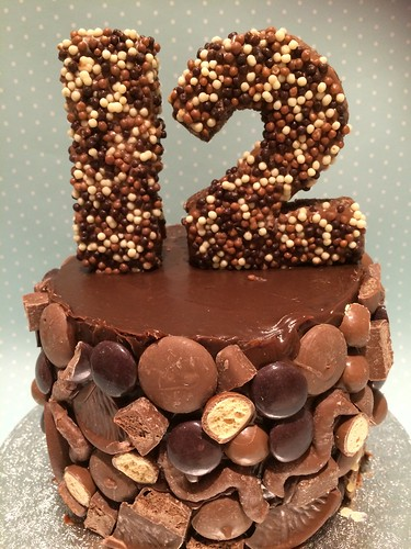 Chocolate Mosaic Birthday Cake Decorated With My Daughter
