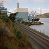 Crockett, California (bior) Tags: kodakportra portra160vc expiredfilm mediumformat 120 square kowasix kowa carquinezstrait crockett railroad refinery seaport