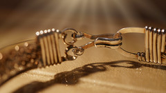 Hold on Tight! (Elisafox22 slowly catching up ;o)) Tags: elisafox22 sony nex6 e30mm f35 macro macrolens lens fasteners hmm macromondays bracelet clasp silver silverwire twisted woven light dof bokeh golden tabletop indoors elisaliddell©2018