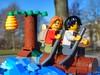 Fugitives (sander_sloots) Tags: crooks fugitives lego minifig toy bricks tree boom voortvluchtigen boeven boomstam 60171 set minifiguur log