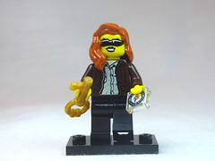 Brick Yourself Custom Lego Figure Adventure Girl with Compass & Golden Key