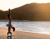 beach yoga (marianna_a.) Tags: beach sunset yoga composite crystal ball sphere reflection light man person single sun costarica mariannaarmata