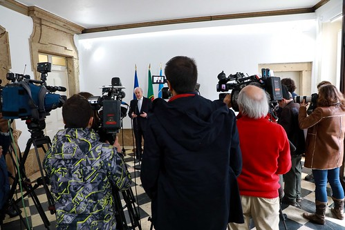 Rui Rio em reunião com a Presidente do CDS-PP