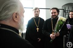 Студенты МинДА и МинДУ поздравили митрополита Павла с днем рождения