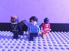 Blue Beetles Earth 46 (fredmcsmart) Tags: lego dc blue beetle ray palmer atom smasher prometheus cyborg batman ted kord dominators