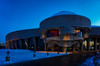 Winter at the Museum of History (beyondhue) Tags: history civilization quebec gatineau canada dusk night blue sky snow winter beyondhue architecture light entrance museum