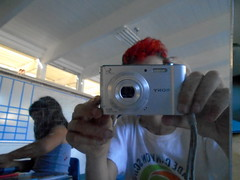 DSC01653 (classroomcamera) Tags: school classroom red hair boy camera digital photo photography selfie portrait girl classmate classmates two pair post hand hands mirror reflection reflections mirroring