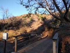 Trailhead Bridge (Kelson) Tags: hahnpark kennethhahnstaterecreationarea hiking nature goldenhour