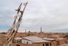 Vue sur Khiva, depuis la muraille (Histoires de tongs) Tags: uzbekistan ouzbékistan tourdumonde travel trip roundtheworld adventure aventure voyage architecture découverte discover visite visit