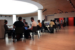 Busy at Work at SF MoMA (JB by the Sea) Tags: sanfrancisco california october2017 urban financialdistrict sanfranciscomuseumofmodernart sfmoma