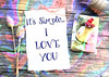 It's Simple...I Love You (Javcon117*) Tags: love luv simple colorful rainbow pastel paper note written words text quote saying typography javcon117 flirt romantic romance purple