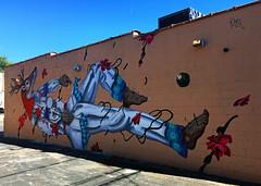 Stag in Repose by Diske Uno (wiredforlego) Tags: graffiti mural streetart urbanart aerosolart publicart chicago illinois ord diskeuno
