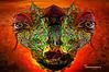 FEMALE ALIEN LOOKING FOR A HUMAN HUSBAND. (Viktor Manuel 990.) Tags: alien digitalart artedigital brightcolors coloresbrillantes textures surreal surealism querétaro méxico victormanuelgómezg espejo mirror